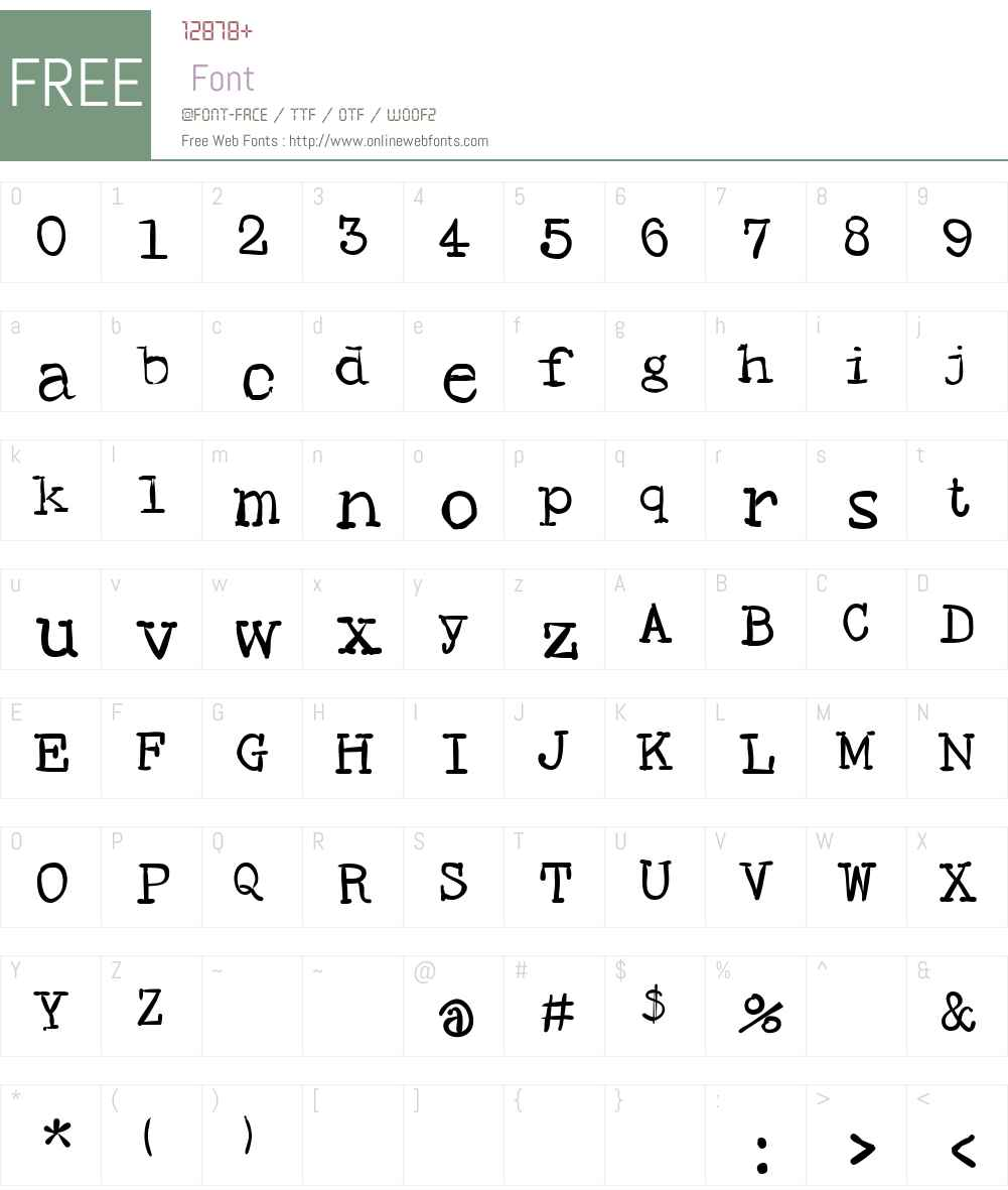 SMHand Font Screenshots