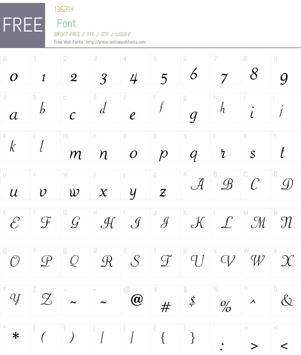 OPTIPiranesi Font Screenshots