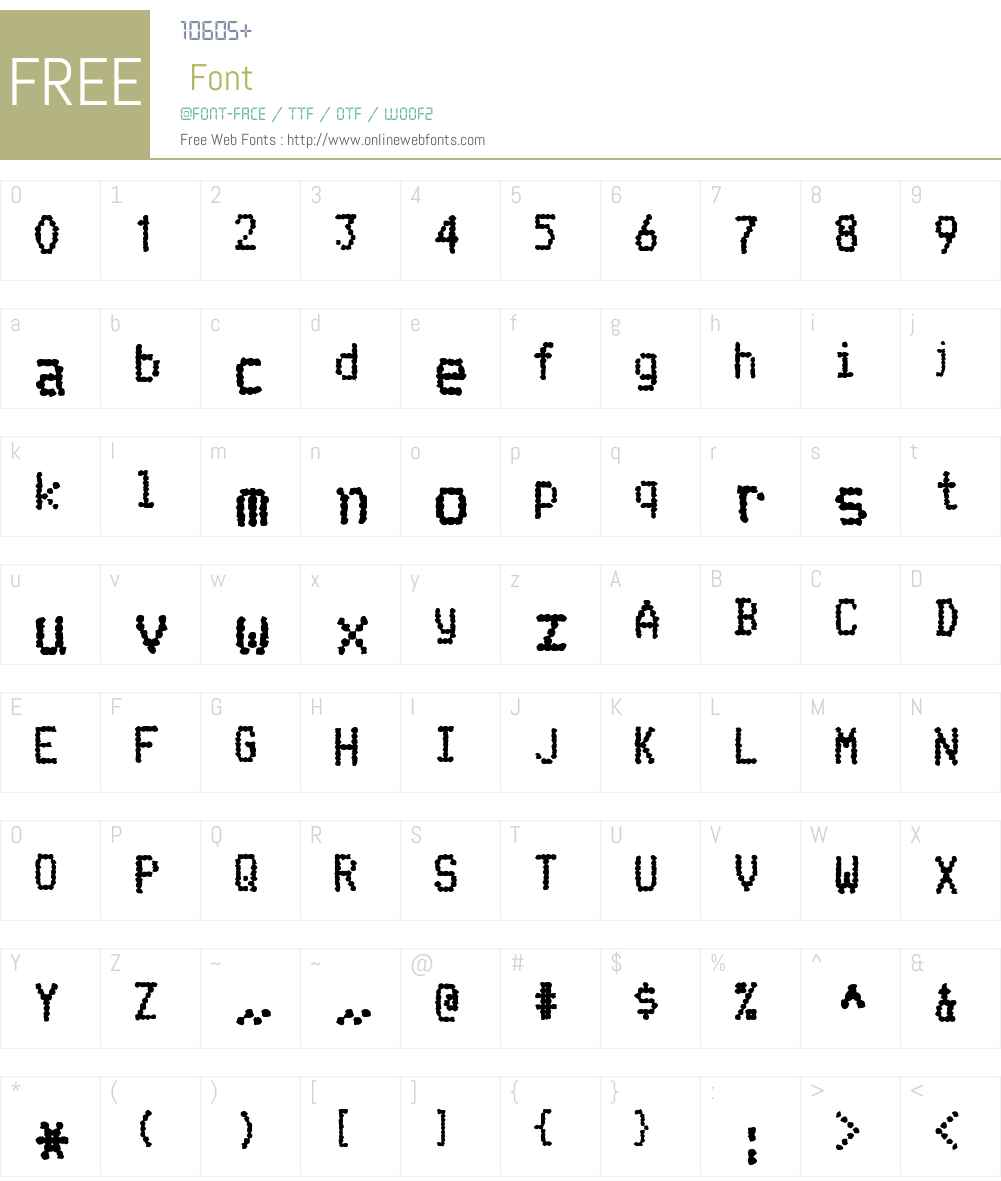 Telidon Ink Hv Font Screenshots