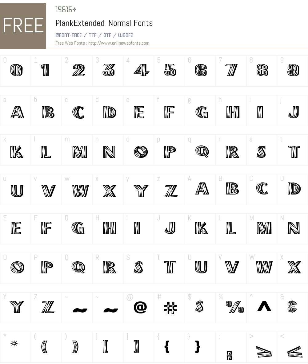 PlankExtended Font Screenshots