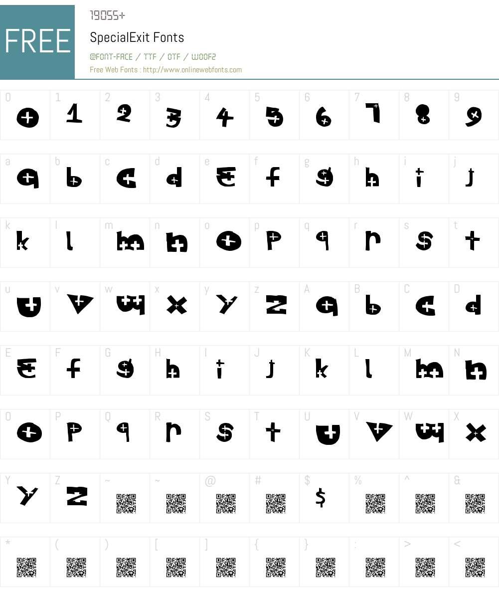 SpecialExit Font Screenshots