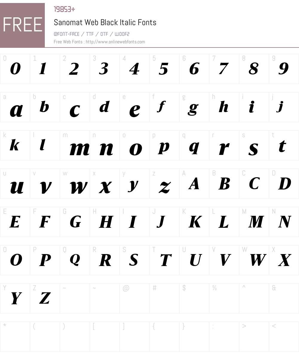 Sanomat Web Black Font Screenshots