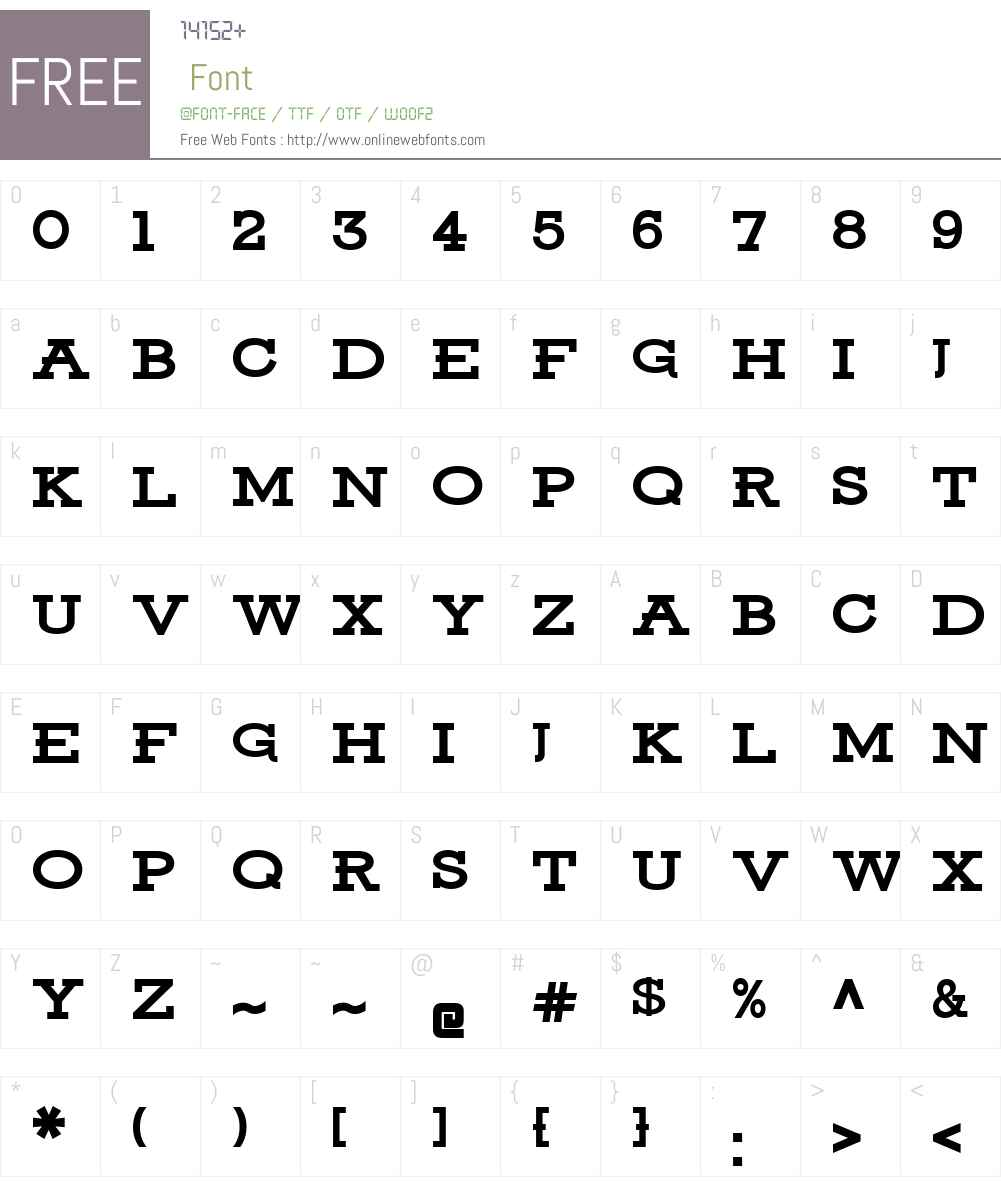 Ansley Display Font Screenshots