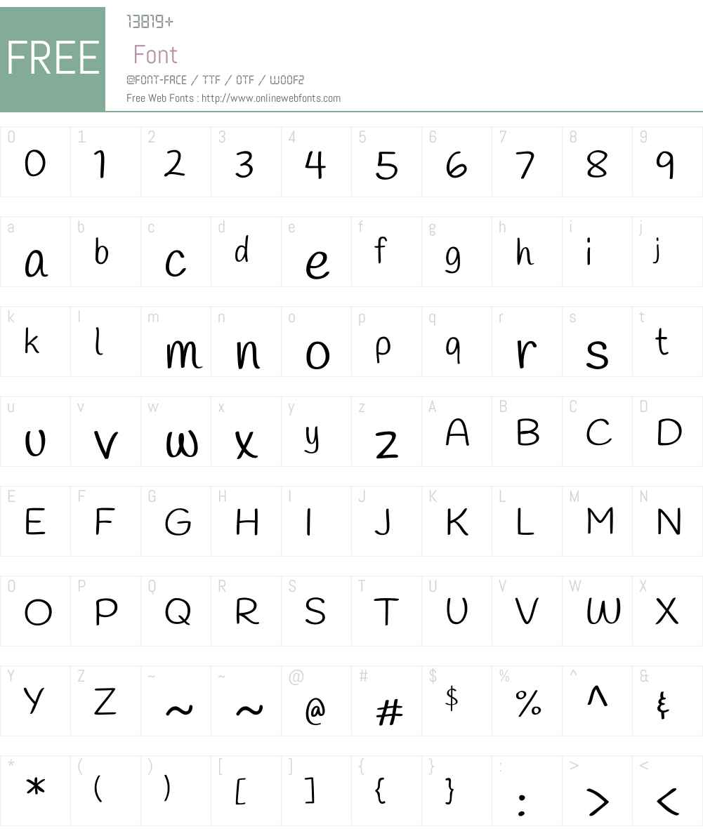 Handlee Font Screenshots
