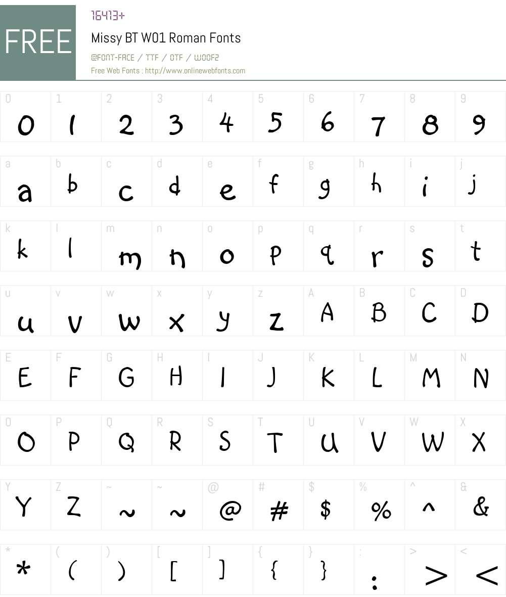 MissyBTW01-Roman Font Screenshots