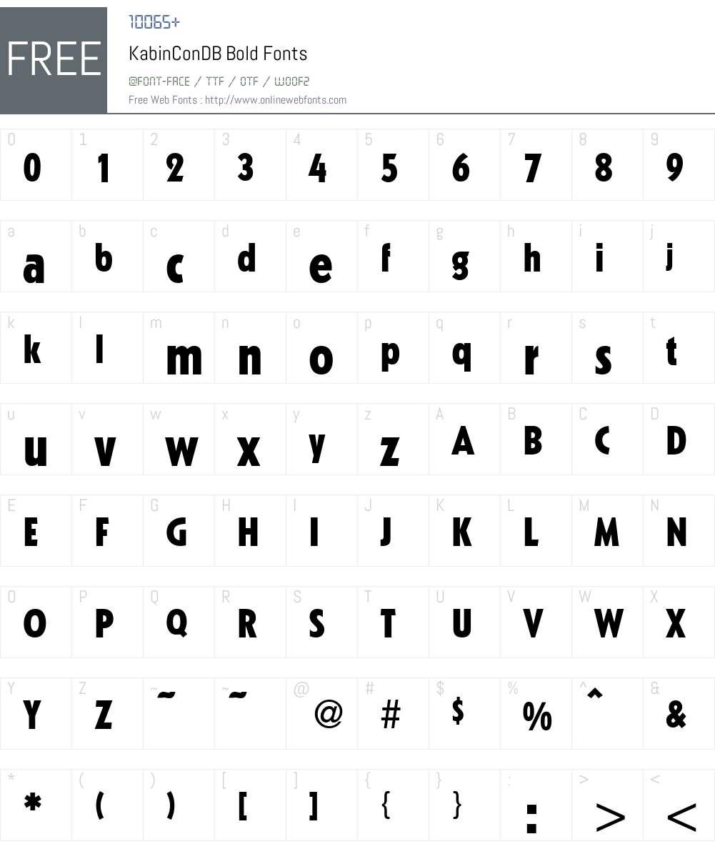 KabinConDB Font Screenshots