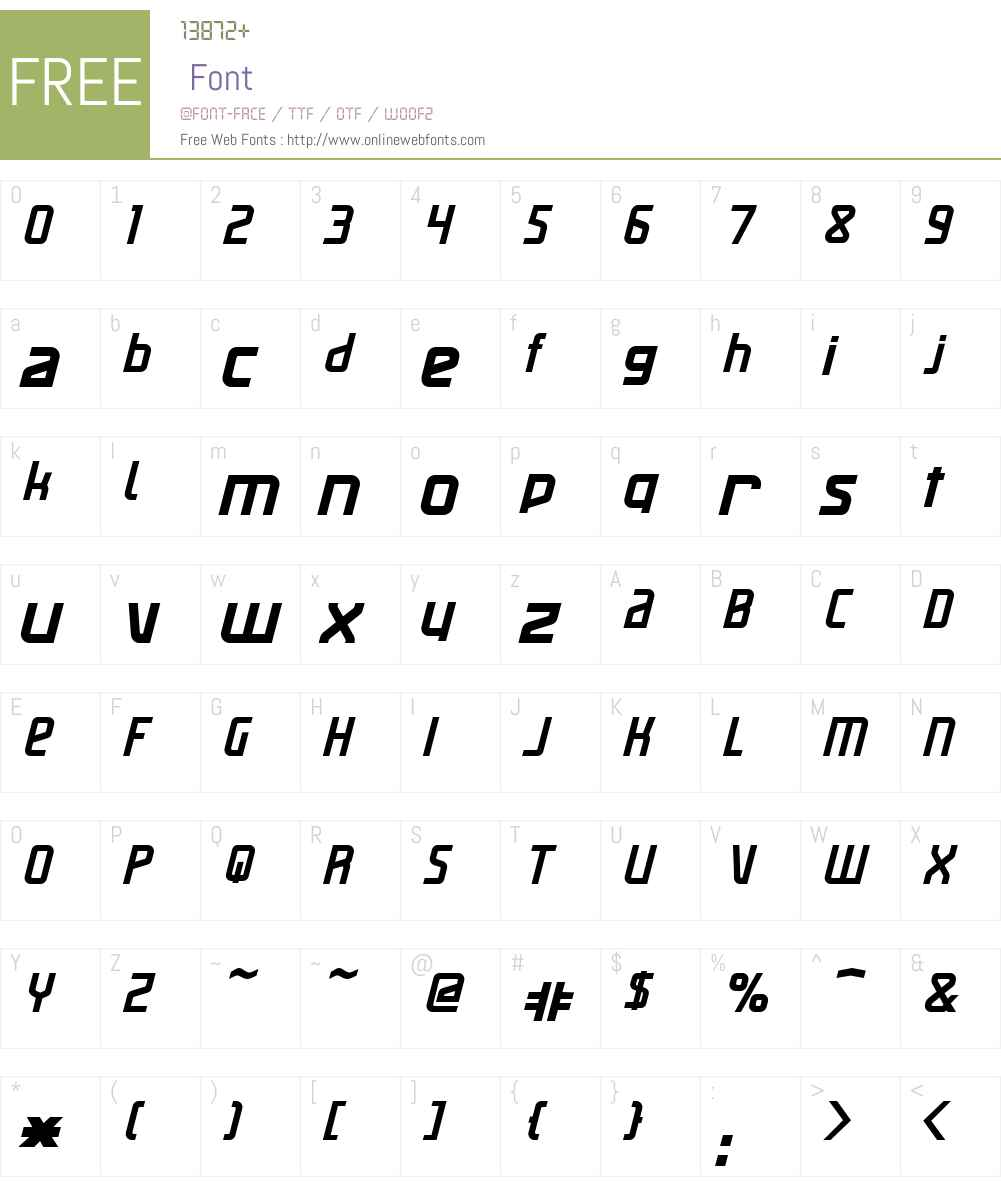 Maassslicer Font Screenshots