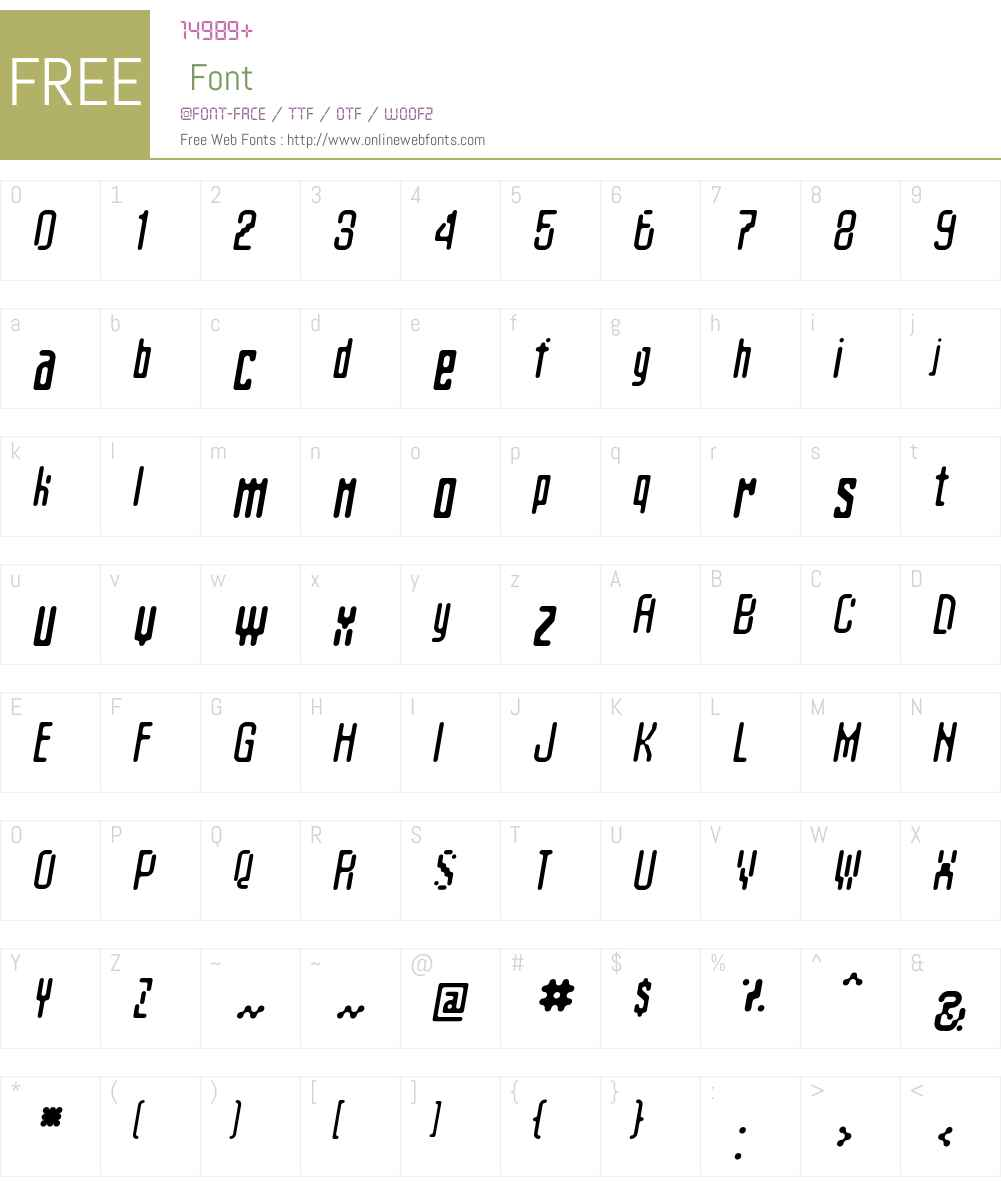 Matica Font Screenshots