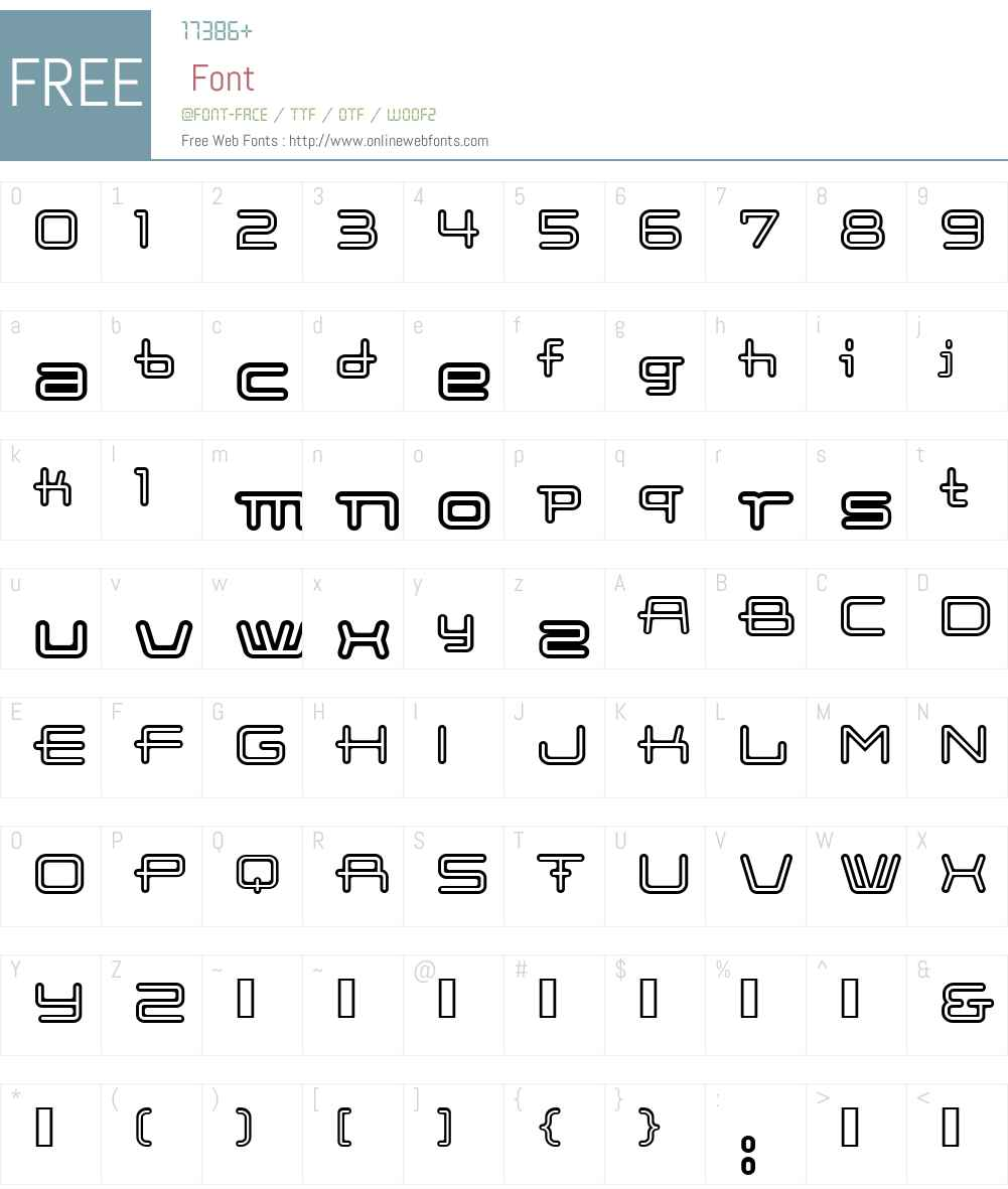 Cootopen Font Screenshots