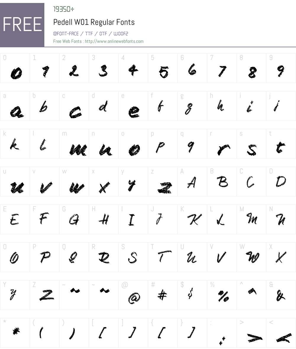 PedellW01-Regular Font Screenshots
