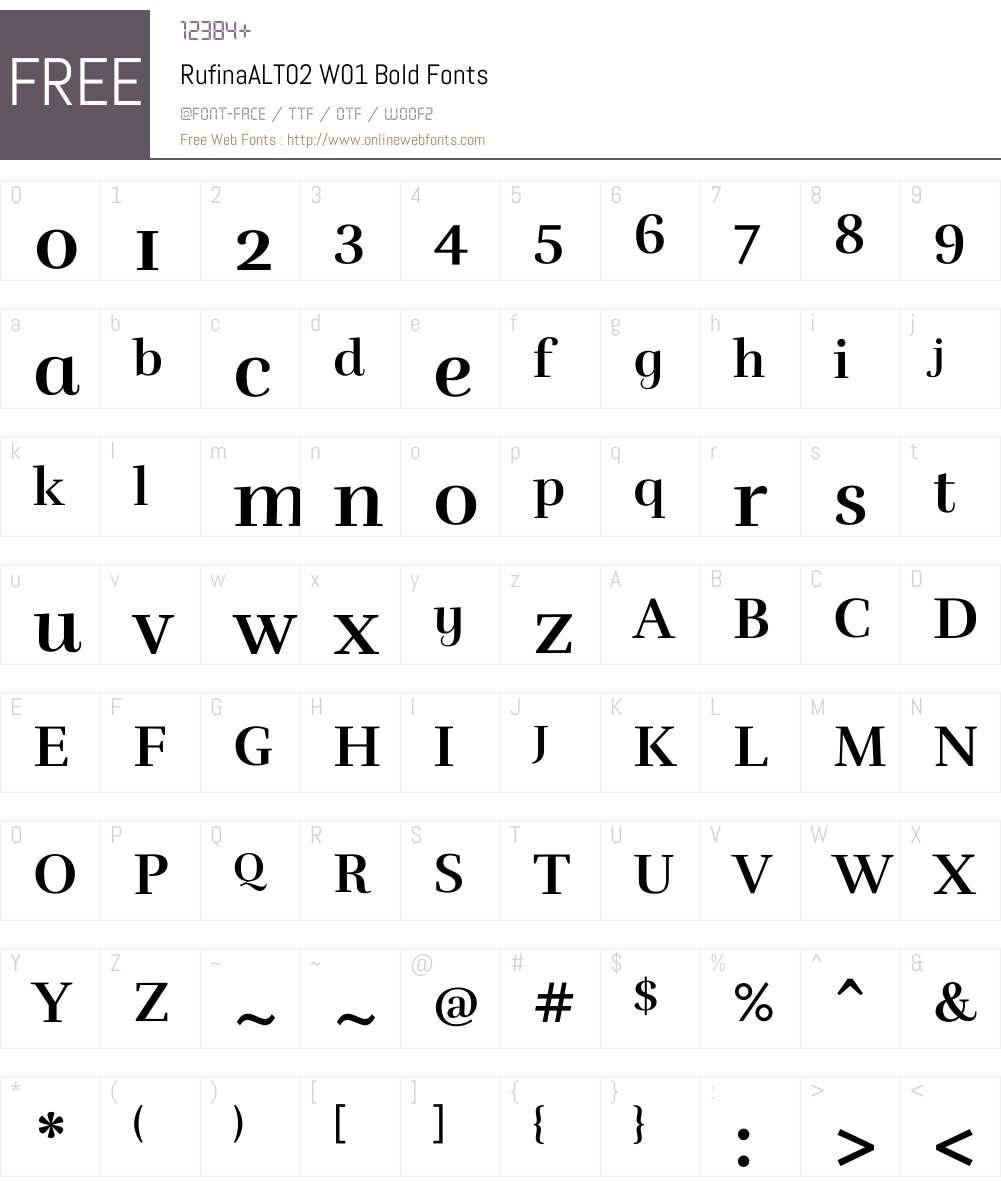 RufinaALT02W01-Bold Font Screenshots