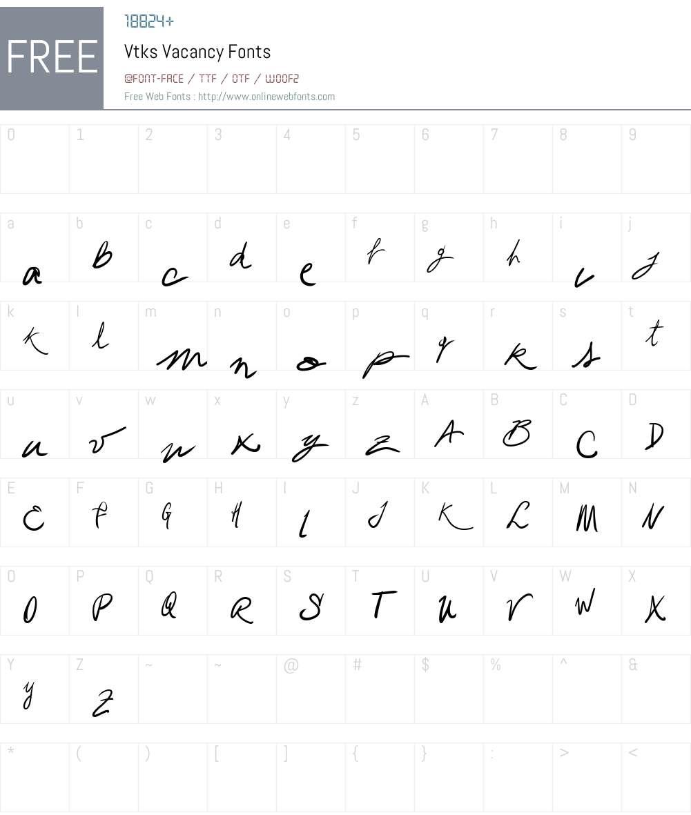 Vtks Vacancy Font Screenshots
