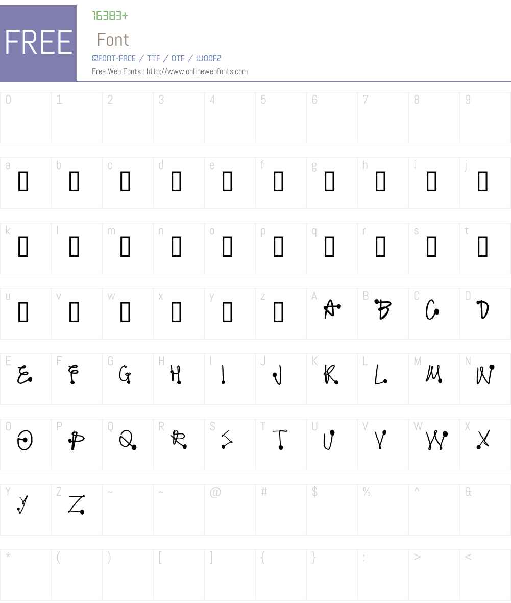 Protonic Feelers Font Screenshots