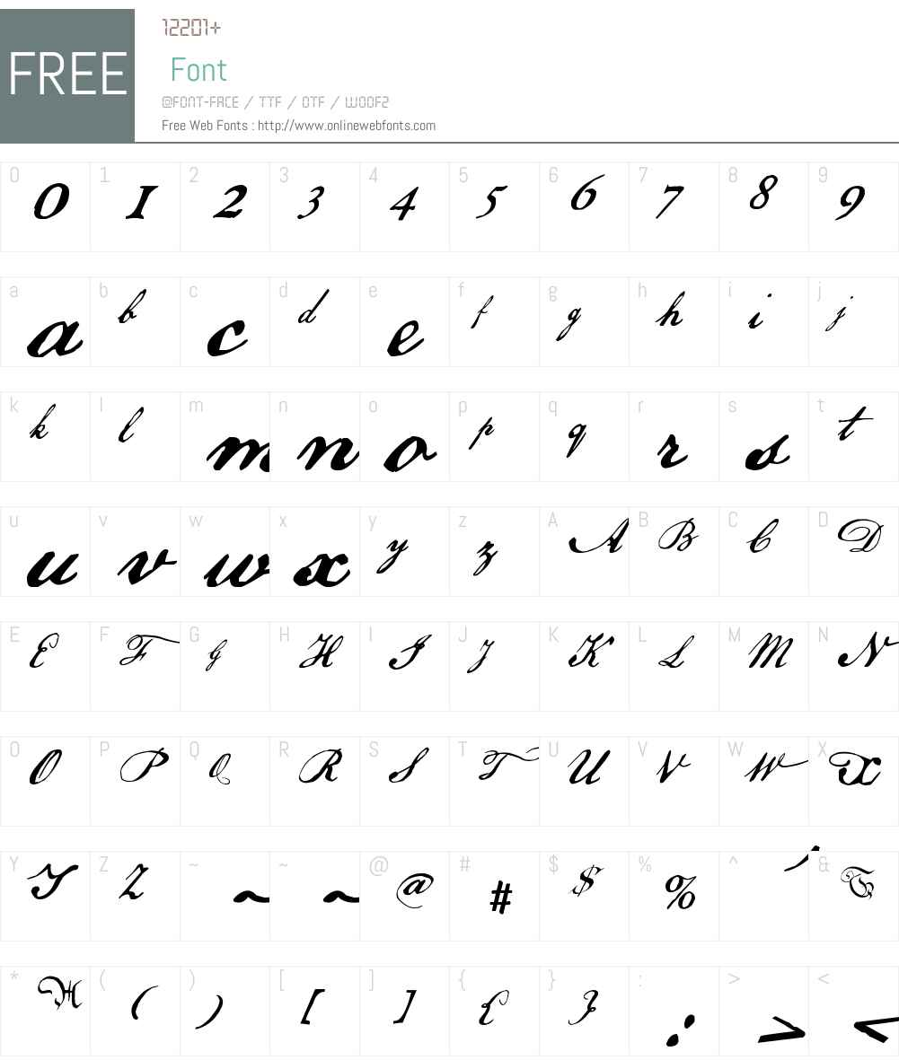 US Declaration Font Screenshots