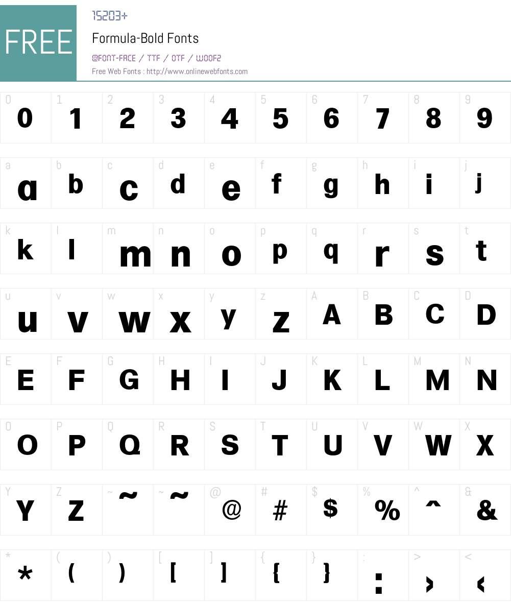 Formula-Bold Font Screenshots