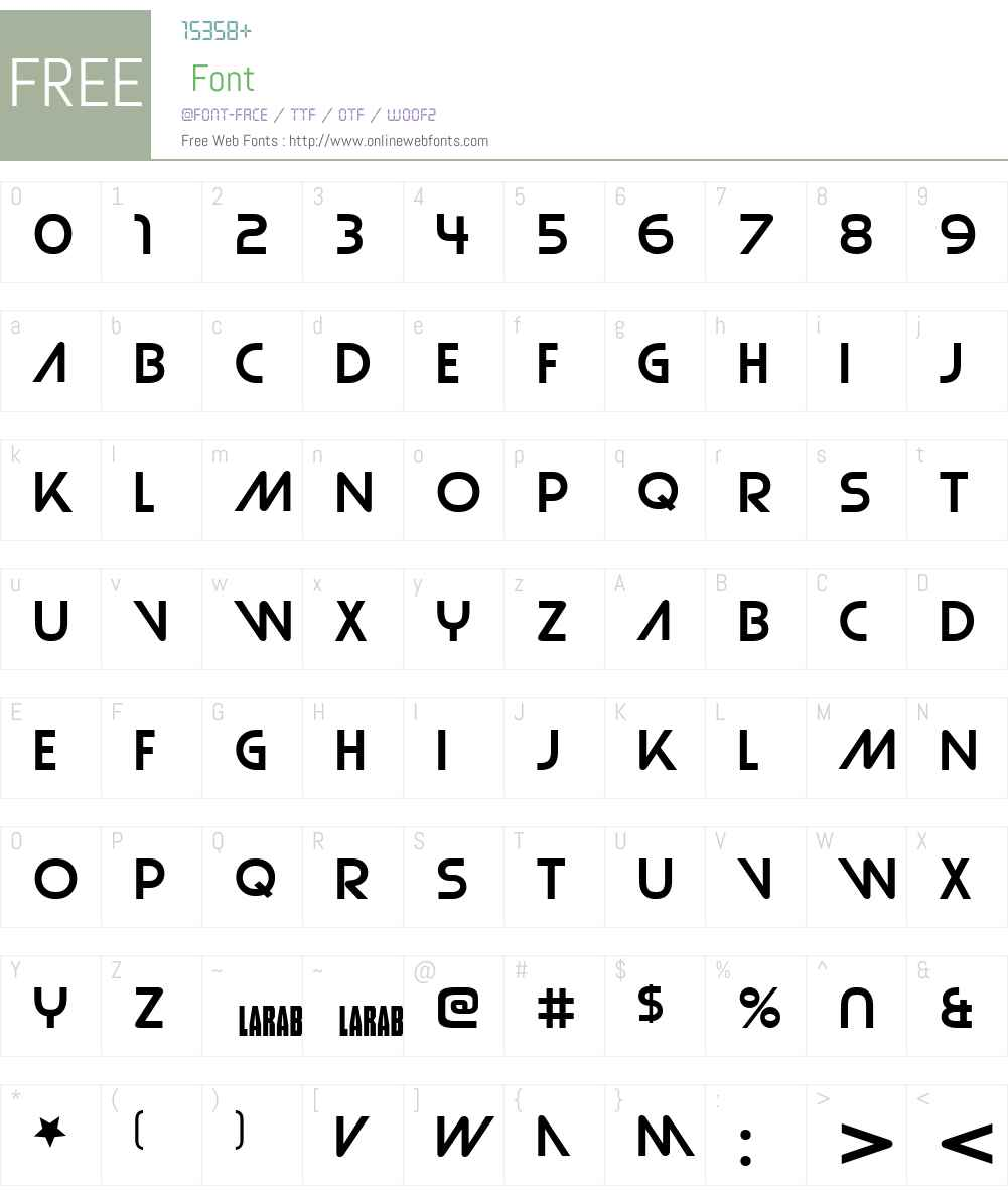 Strasua Font Screenshots