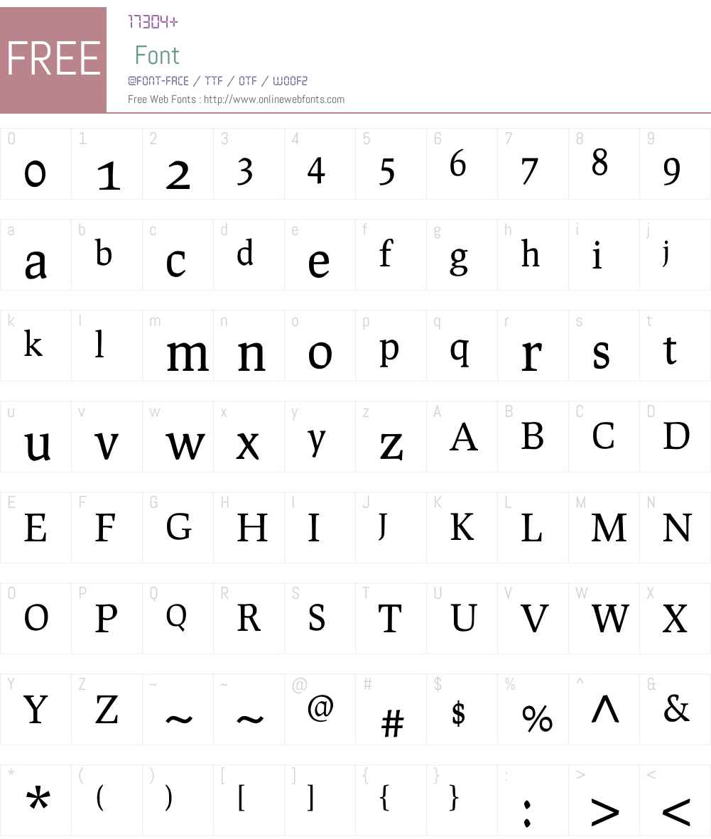 Prociono Font Screenshots