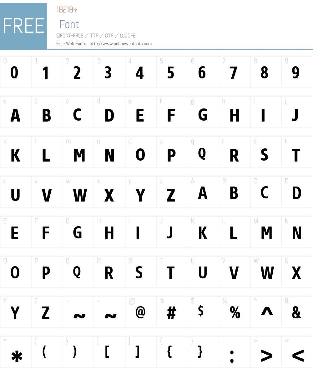CoreSansNRW01-SC67CnBold Font Screenshots