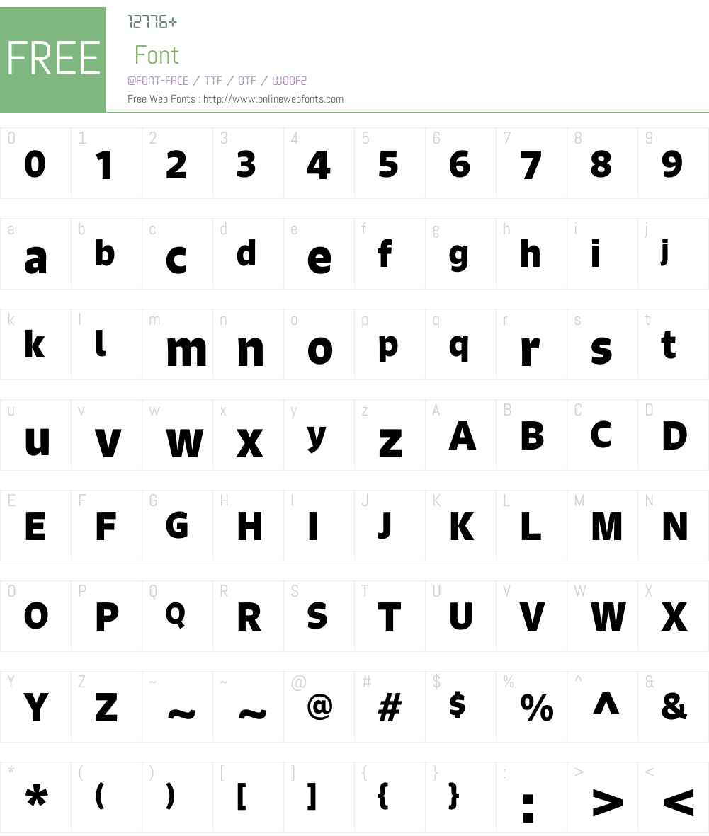 SignoW01-Bold Font Screenshots