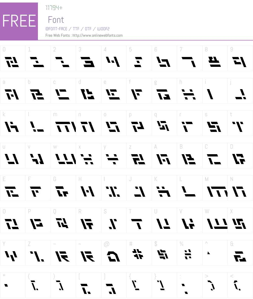 Missile Man Leftalic Font Screenshots