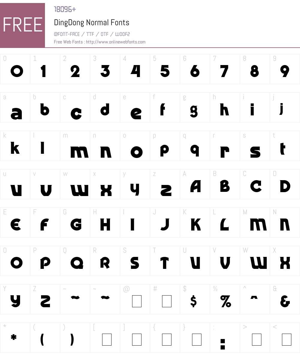 DingDong Font Screenshots
