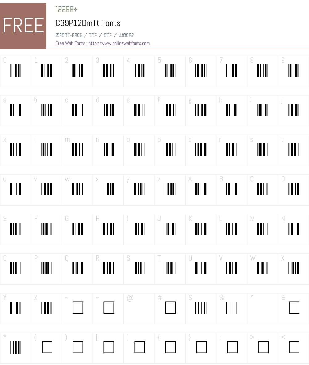 C39P12DmTt Font Screenshots