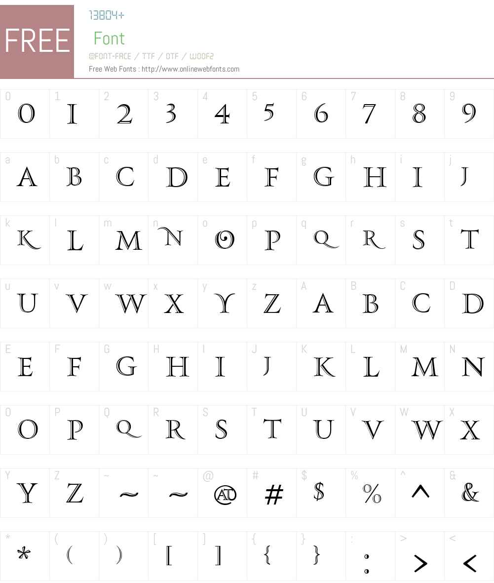 PFMonumentaPro-Shaded Font Screenshots