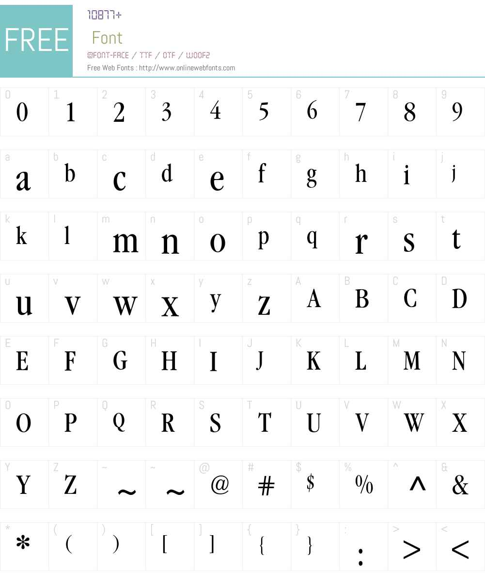 Garamond ITC Condensed BQ Font Screenshots