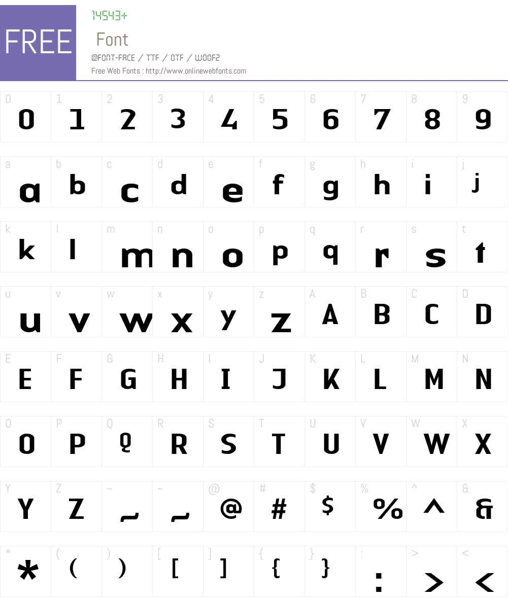 LTAuthenticSans Medium Font Screenshots