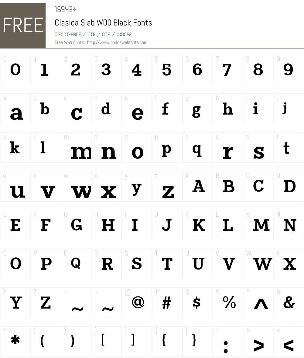 ClasicaSlabW00-Black Font Screenshots