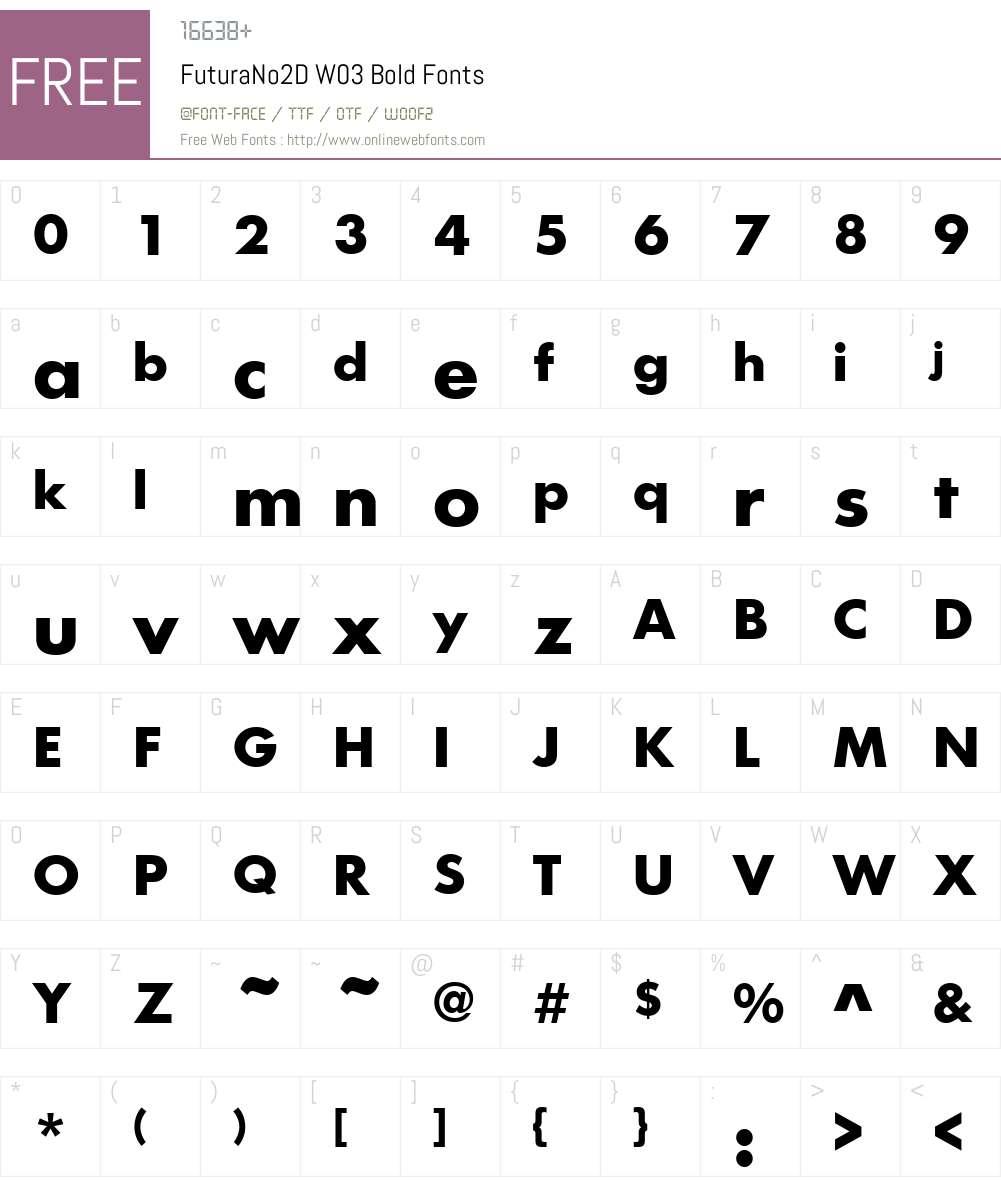 FuturaNo2DW03-Bold Font Screenshots