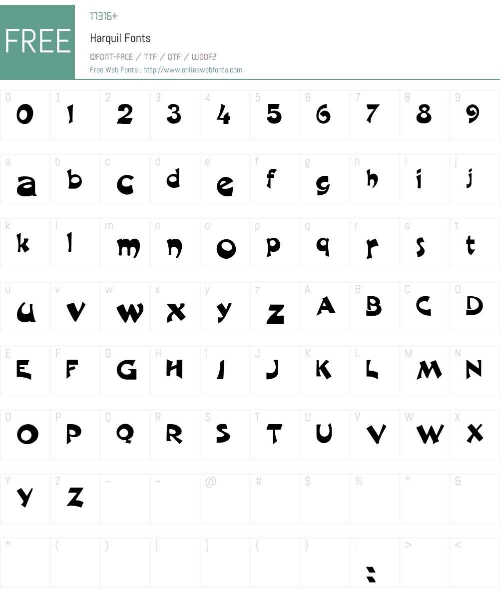 Harquil Font Screenshots