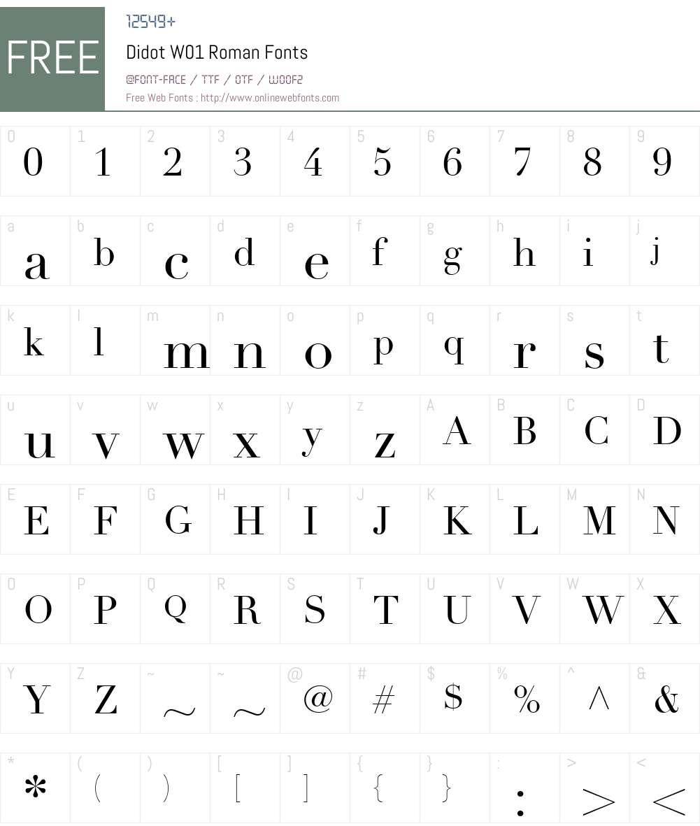 DidotW01-Roman Font Screenshots