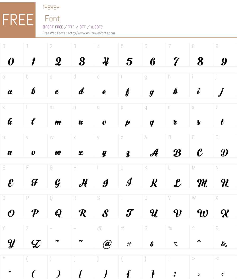 BlackScript-Bold Font Screenshots