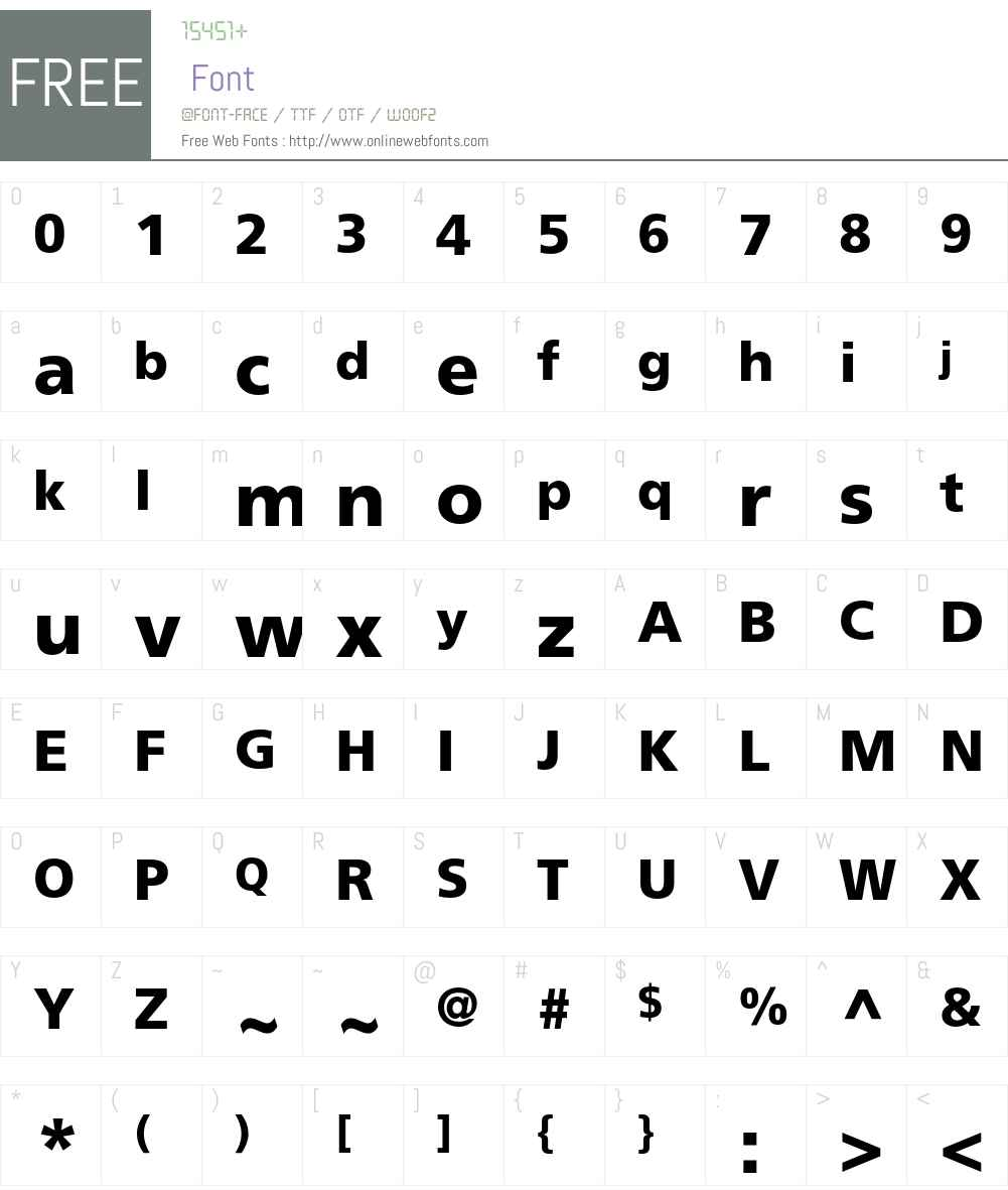 Frutiger Font Screenshots