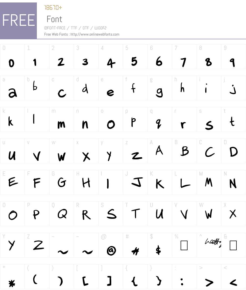 Lee Hodges Font Screenshots