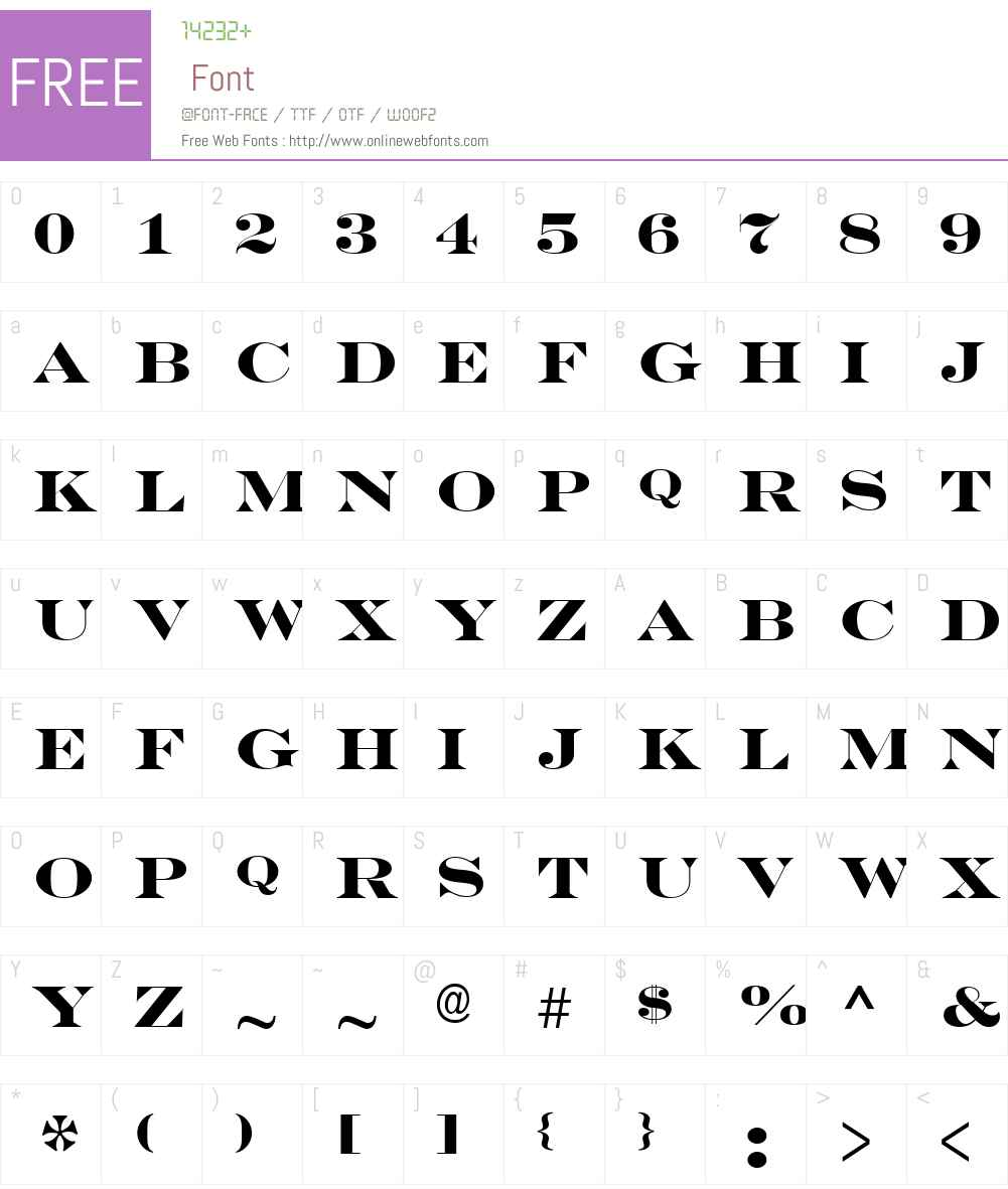 a_SeriferExpTitul Font Screenshots