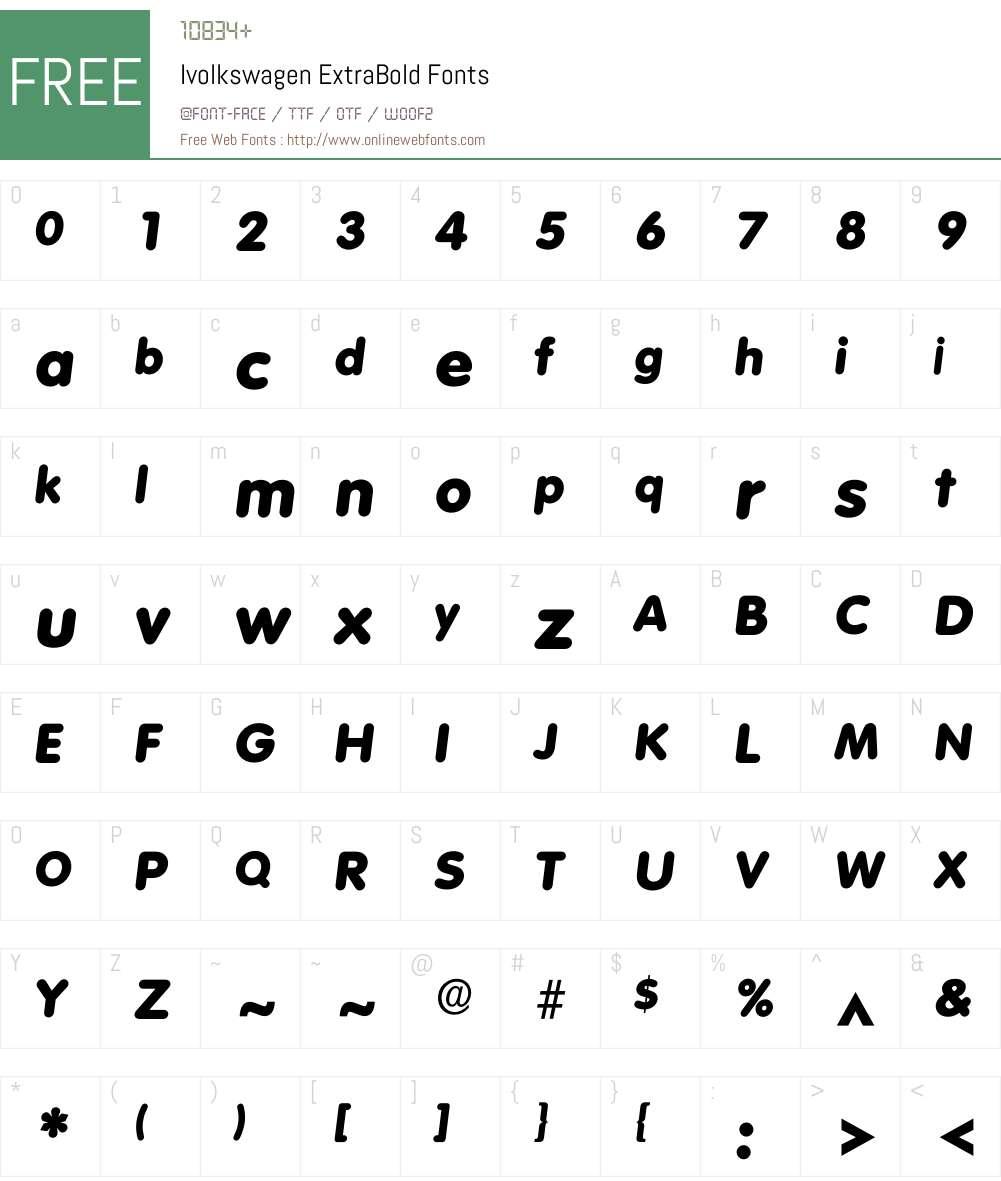 Ivolkswagen Font Screenshots