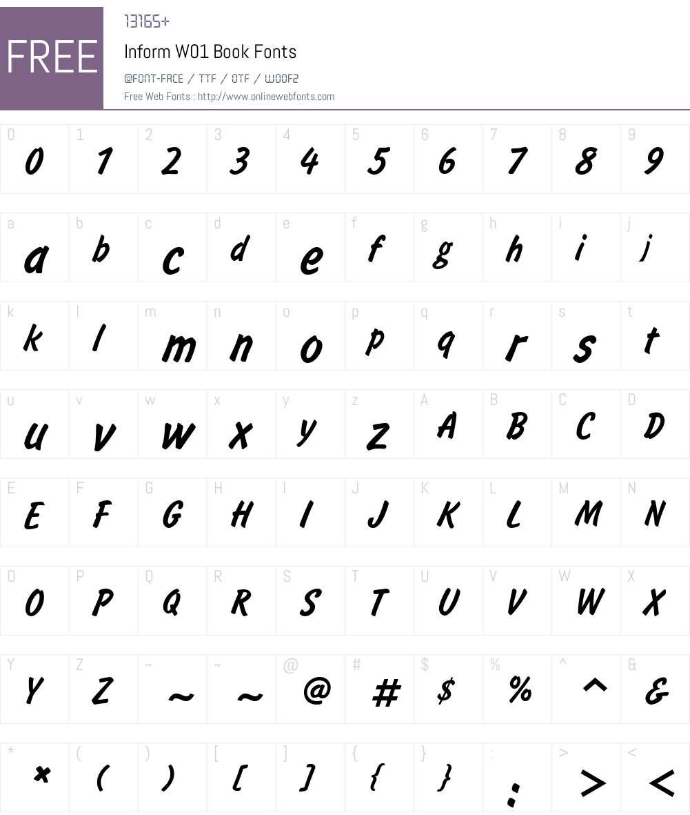 InformW01-Book Font Screenshots