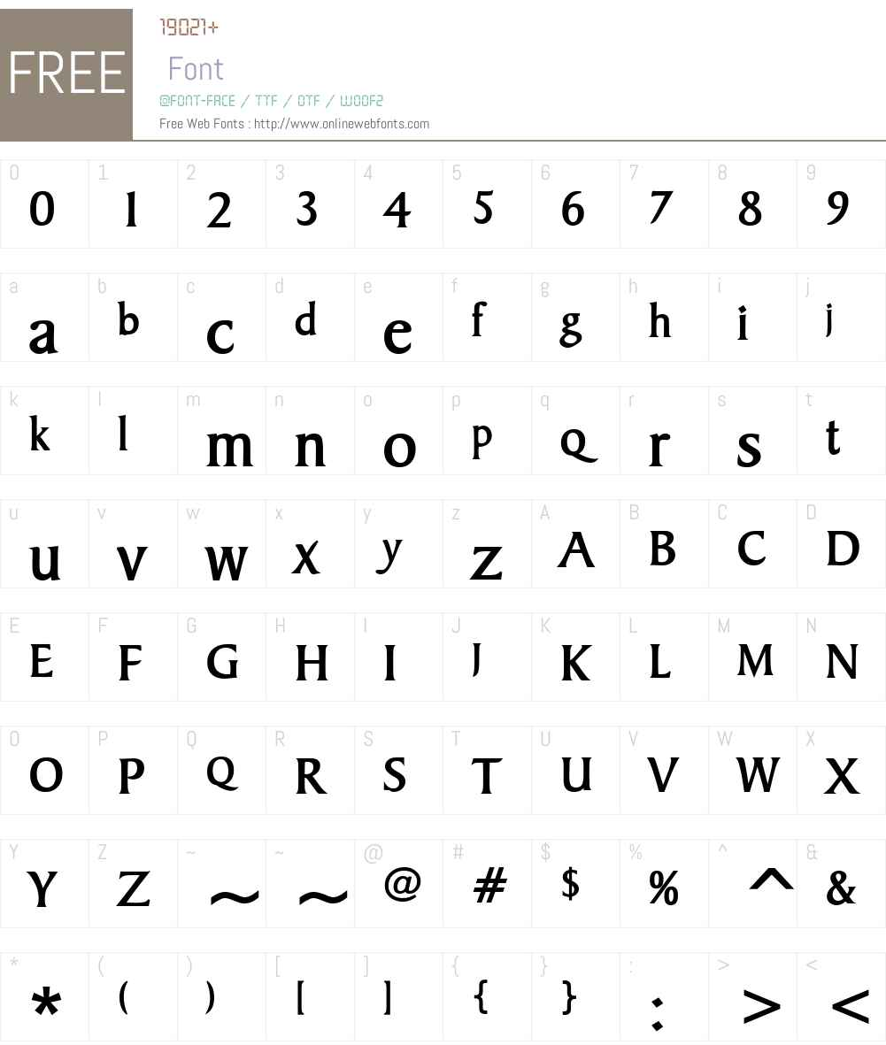 Barrett Font Screenshots