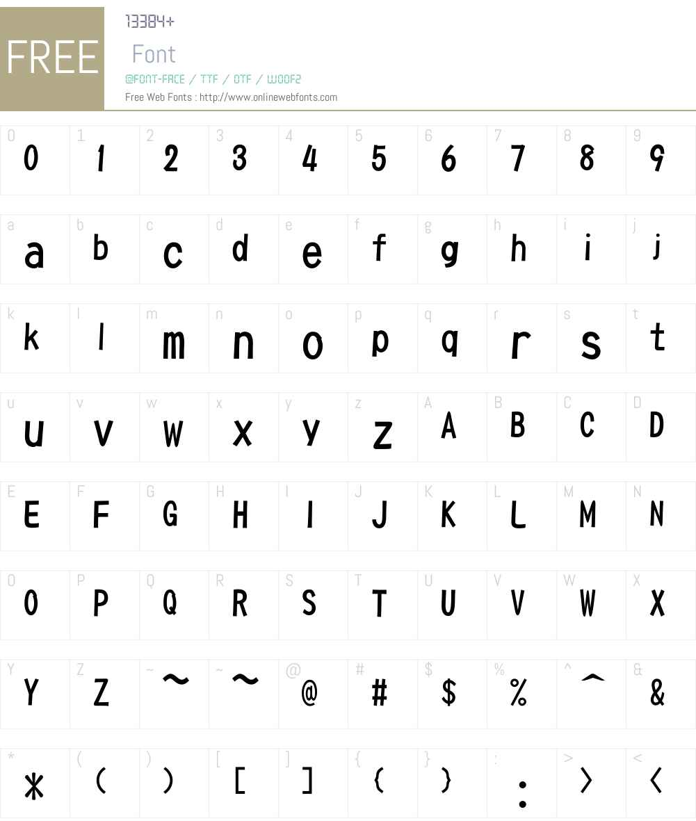 cePOP1W5 Font Screenshots