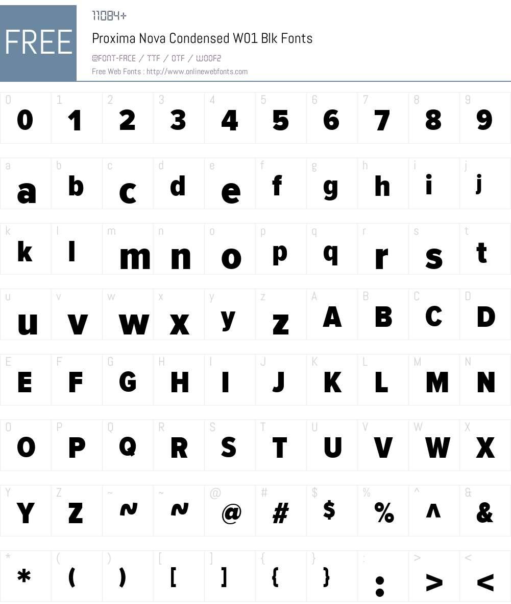 ProximaNovaCondensedW01-Blk Font Screenshots