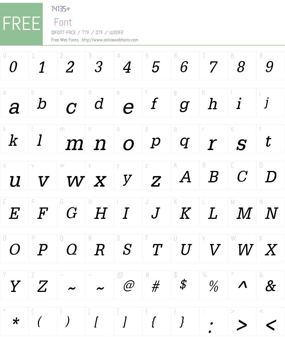 URWTypewriterW01-XNarrowObl Font Screenshots