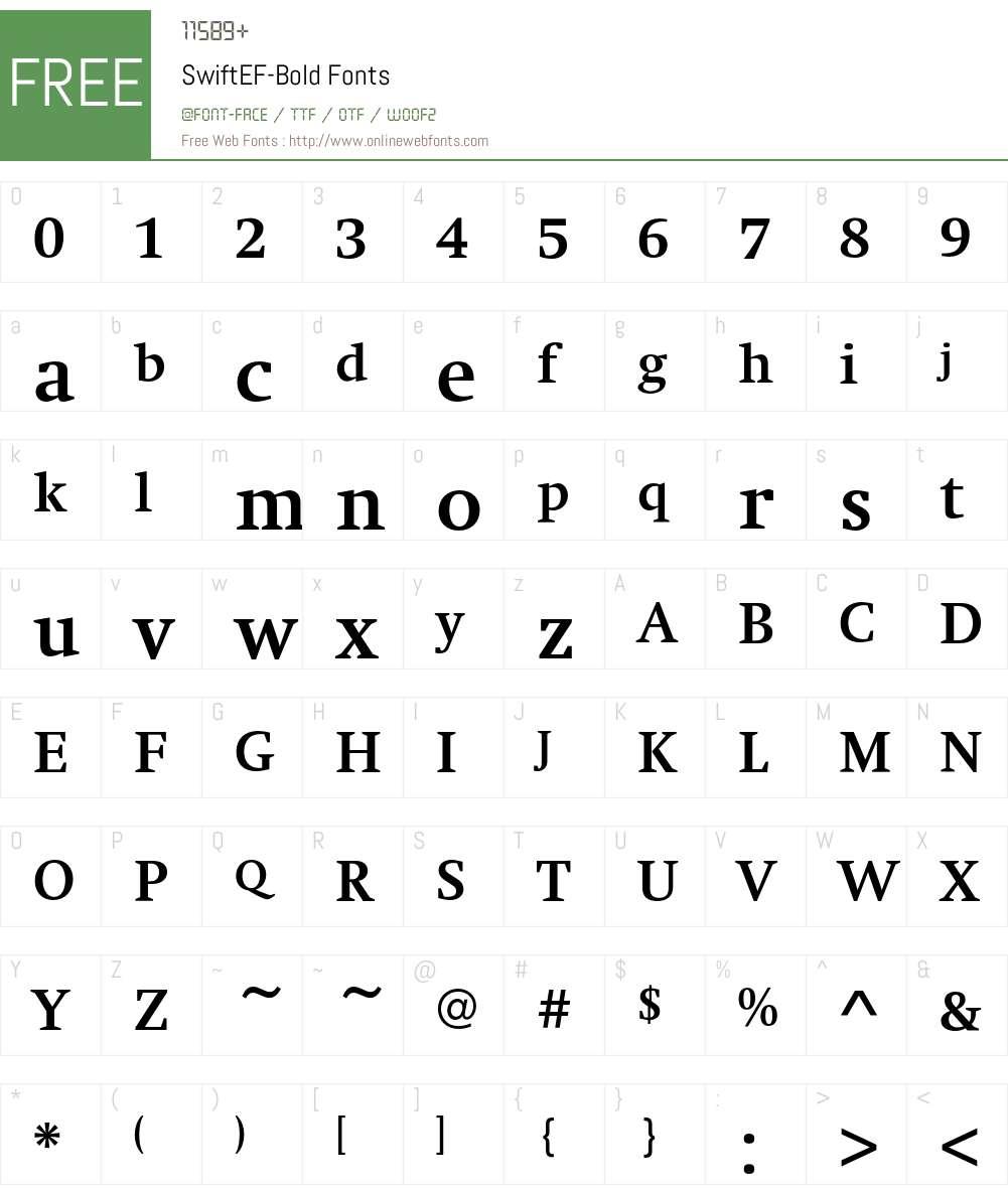 SwiftEF Font Screenshots