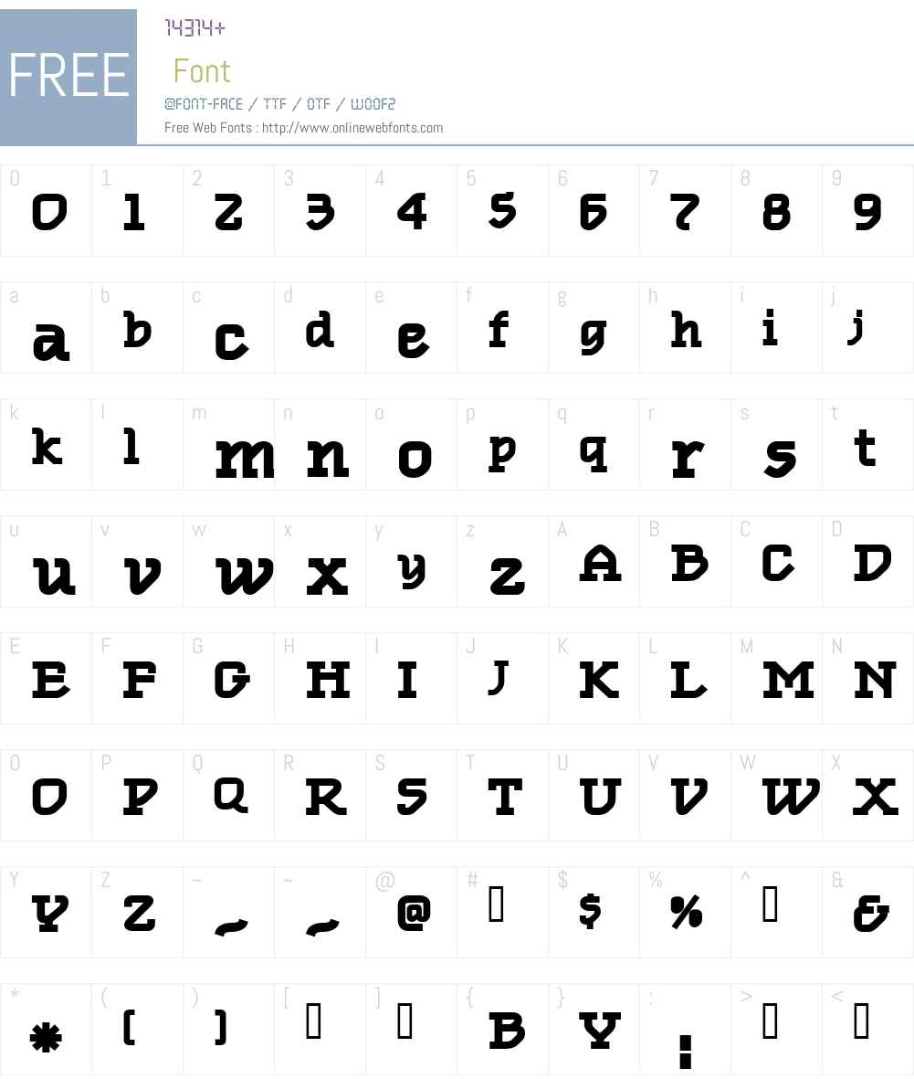 Oblique TextBold Font Screenshots