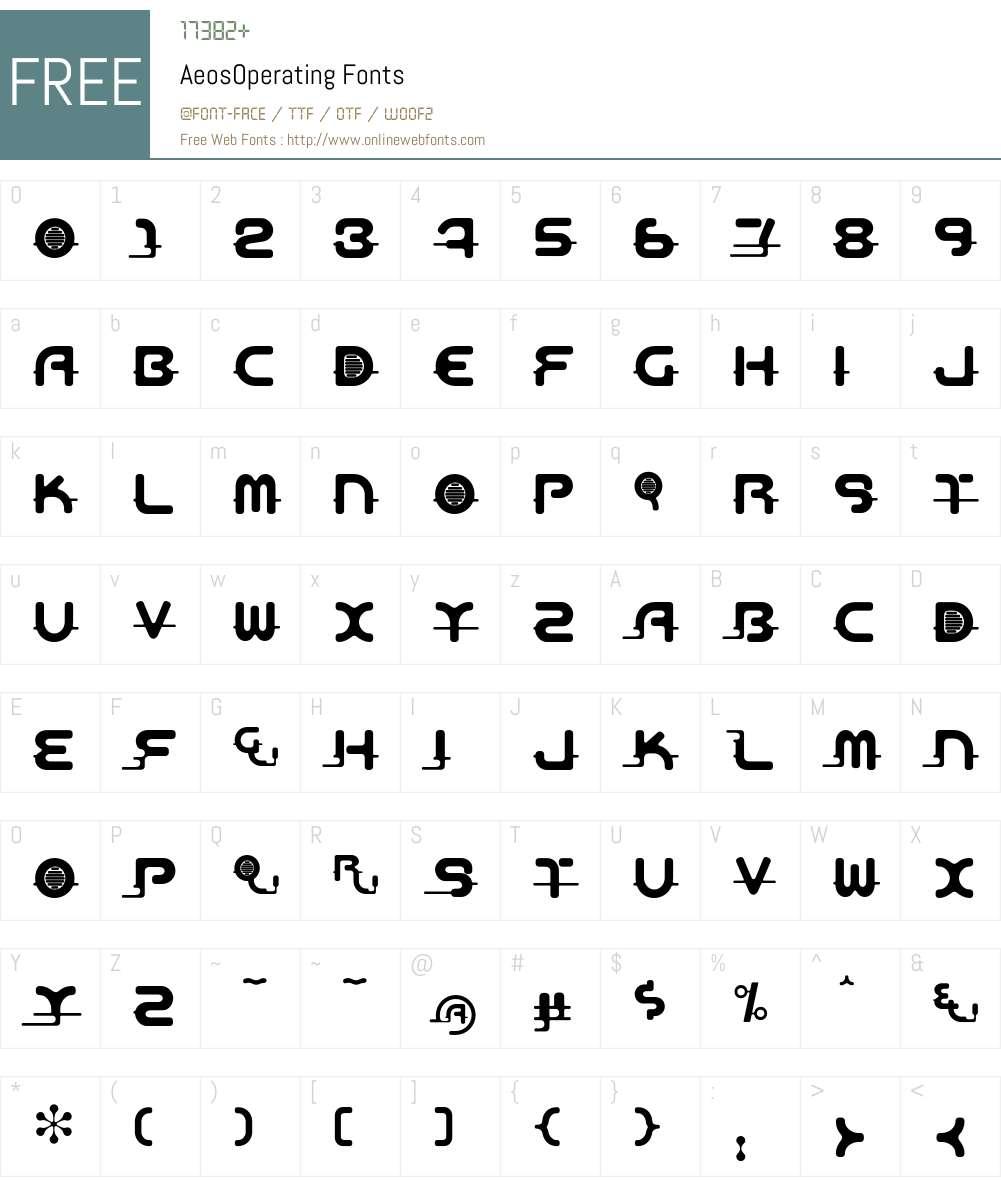 Aeos Font Screenshots