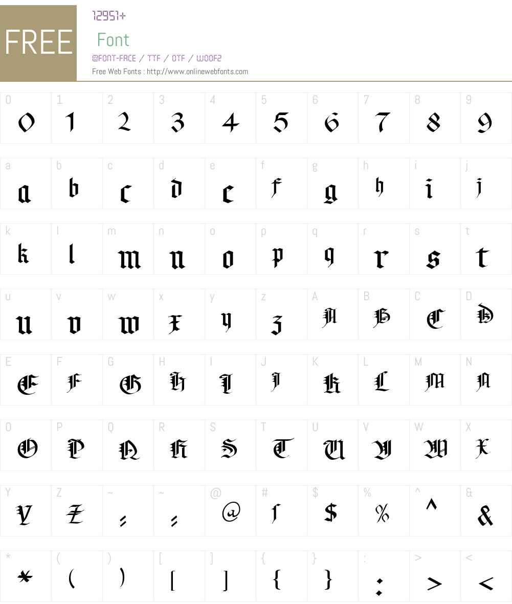 KL Gotic2 DB Font Screenshots