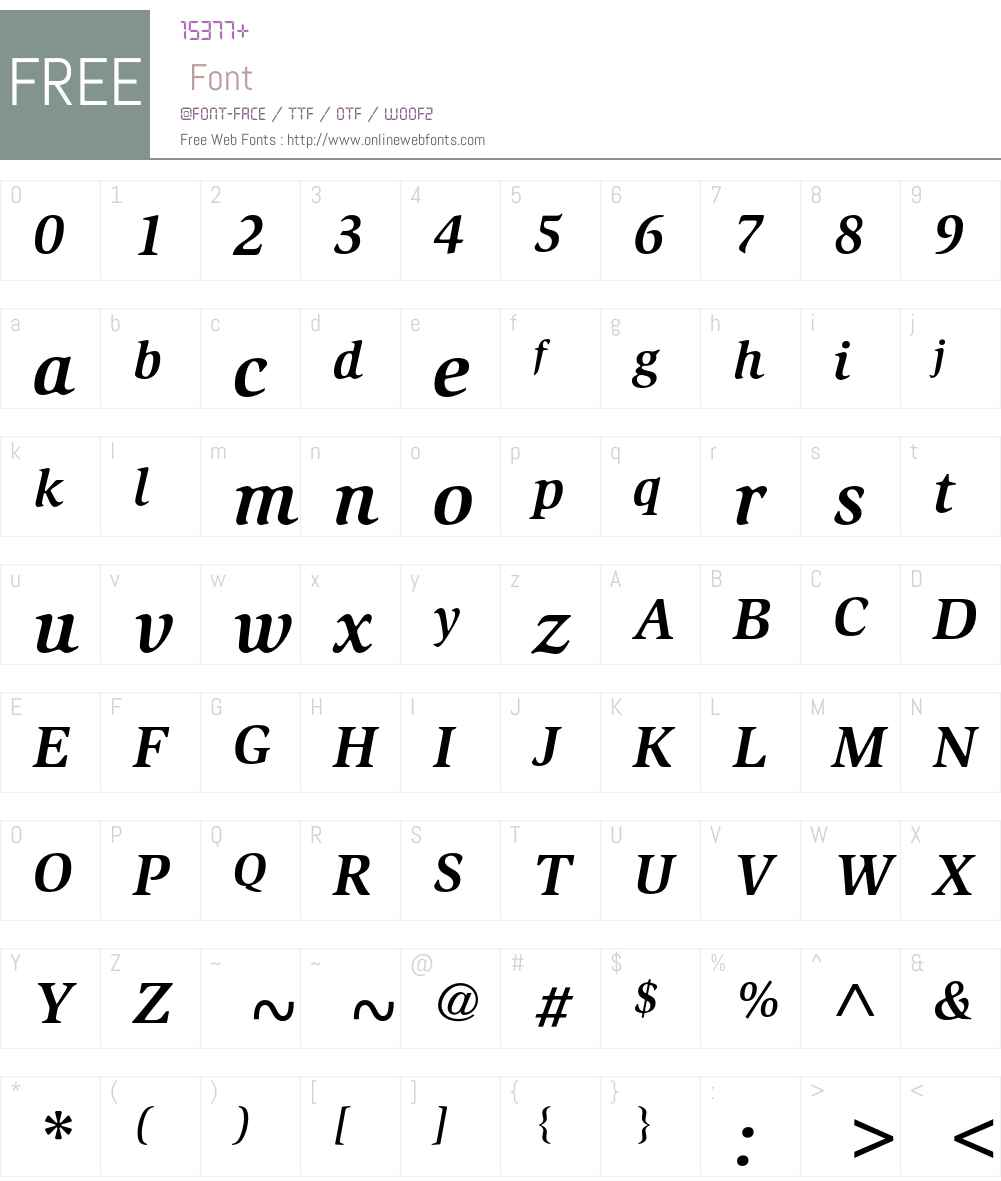 ATSlimbach Font Screenshots