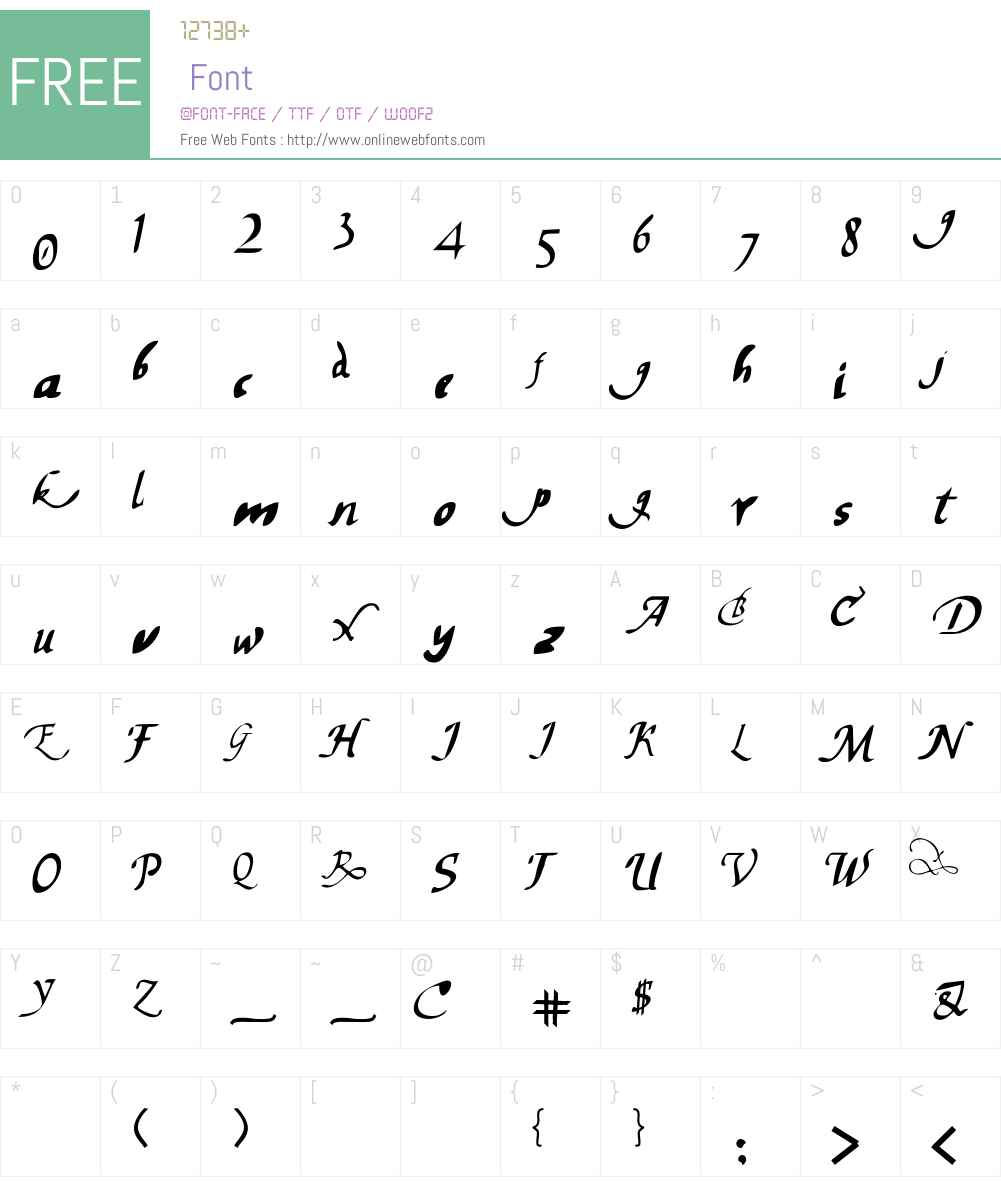 chancelaresca Font Screenshots