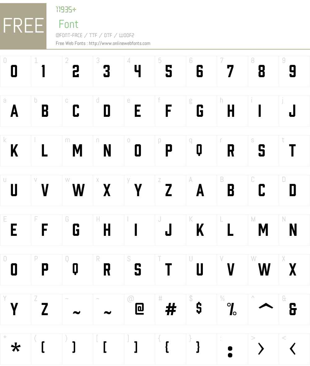 ProhibitionW00-Regular Font Screenshots